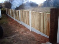 The other side of the fence after we are nearly finished.