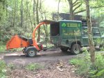 Timber Wolf chipper ready for use to clear the site.
